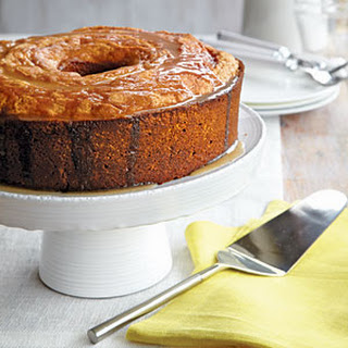 Pound Cake with Brown Butter Glaze.
