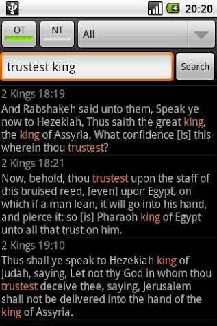 Holy Bible (KJV) Screenshot