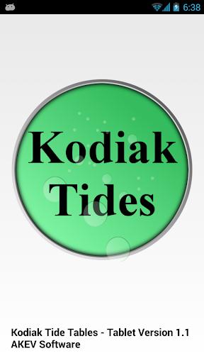 Kodiak Tide Tables Tablet