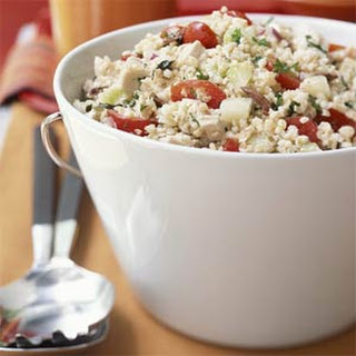 Greek Bulgur Salad with Chicken.