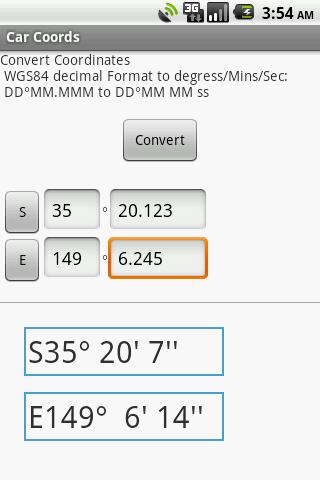 Convert Coordinates DM to DMS