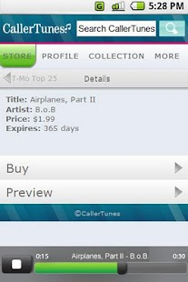 CallerTunes® - screenshot thumbnail