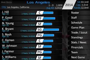 Screenshot of Basketball Dynasty Manager 14
