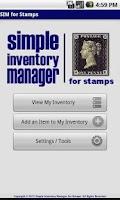 Screenshot of SIM for Stamps