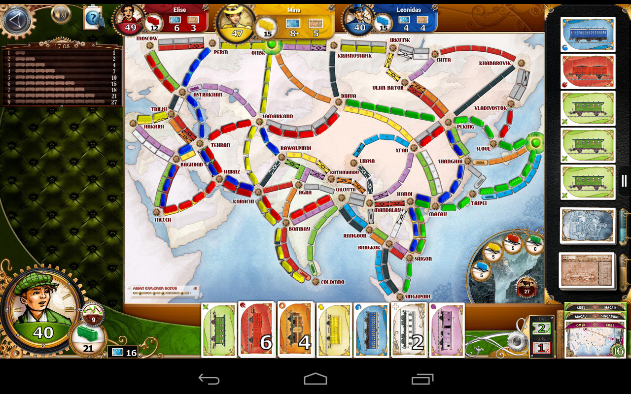 Ticket to Ride - screenshot