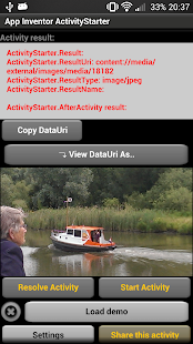 App Inventor ActivityStarter- screenshot thumbnail