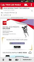 Screenshot of SFR Mail