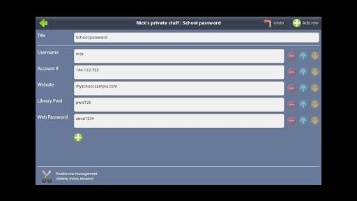 Lockable Data Store 1.2.2 screenshots 6