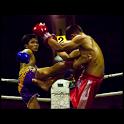 Muay Thai illustrated icon