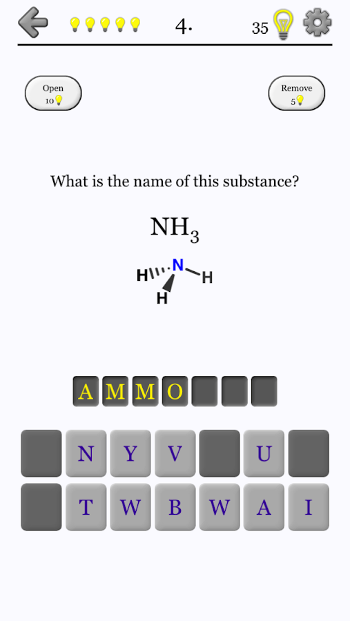 Chemical Substances - Chemistry Quiz- screenshot