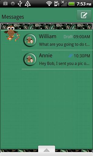 GO SMS THEME AutumnOwl4U