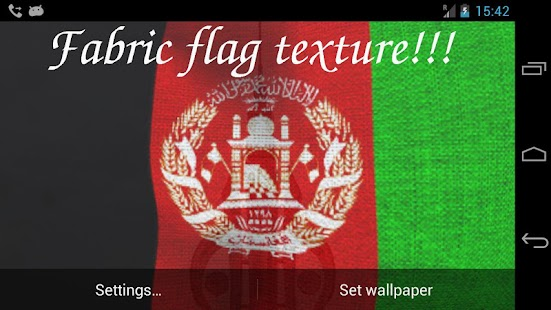 3D Afghanistan Flag LWP- screenshot thumbnail