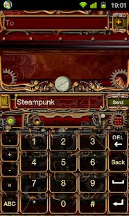 Steampunk GO Keyboard Theme - screenshot thumbnail