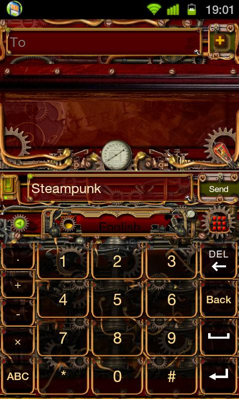 Steampunk GO Keyboard Theme- screenshot