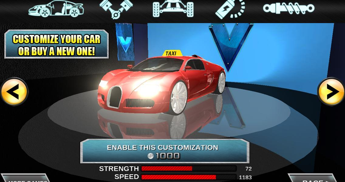 Crazy Driver Taxi Duty 3D- screenshot