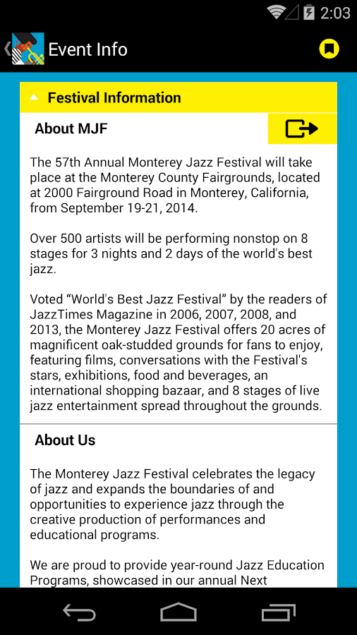 57th Monterey Jazz Festival- screenshot