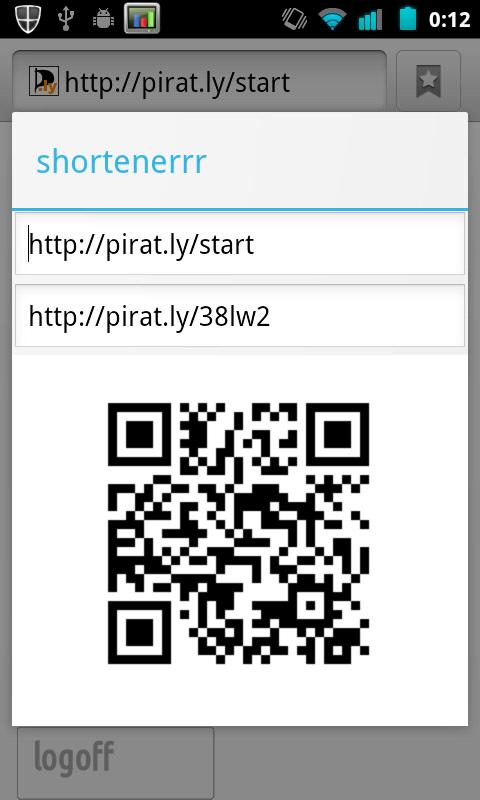 shortenerrr pirat.ly - screenshot