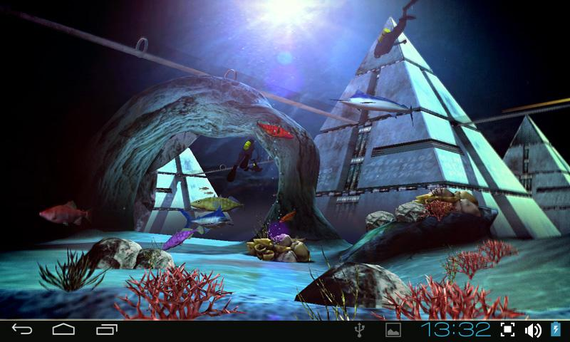 Atlantis 3d pro live wallpaper android apps on google play for 3d home wallpaper for android