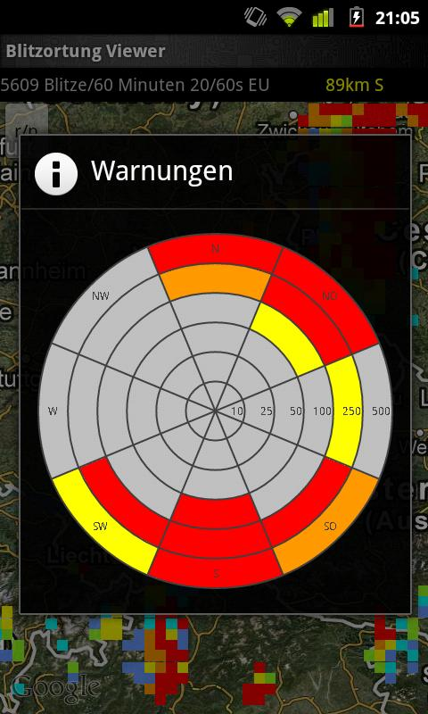 Blitzortung Lightning Monitor- screenshot