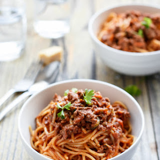 Spaghetti Bolognese With Cheese Recipes.