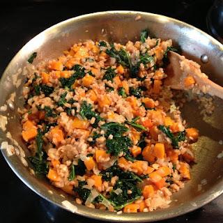Farro Risotto with Butternut Squash and Kale Recipe