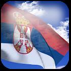 3D Serbia Flag icon