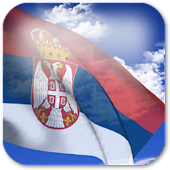 3D Serbia Flag Live Wallpaper+