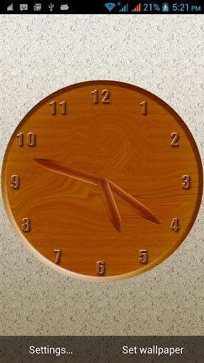 Woody Clock Live Wallpaper