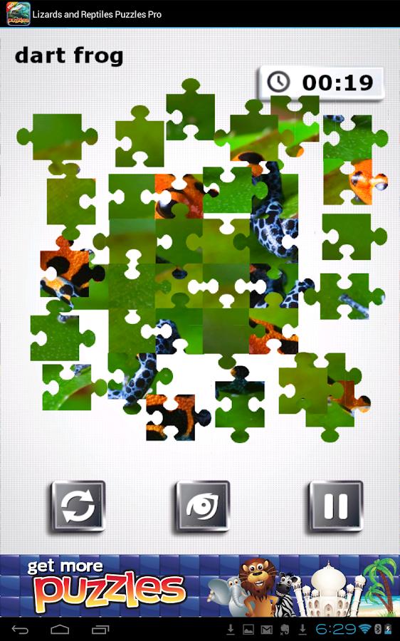 Lizards & Reptiles Free Puzzle - screenshot