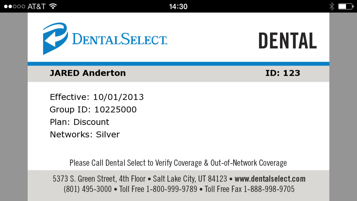 Dental Select Mobile ID- screenshot