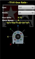 Screenshot of Tamiya TT01 Gear Ratio