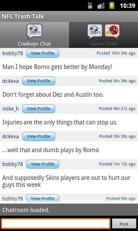 NFL Trash Talk - screenshot