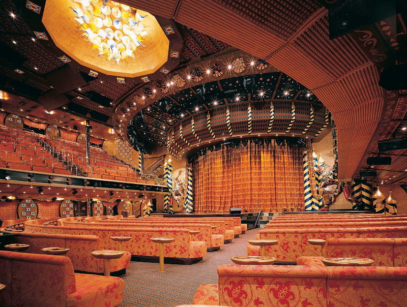 There isn't a bad seat in the house at the Venetian Palace, Carnival Liberty's main entertainment venue.