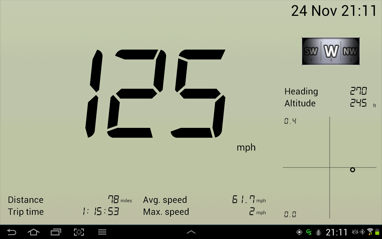GPS Speedometer Free - screenshot