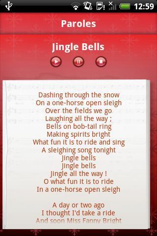 Chants de Noël- screenshot