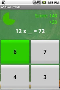 A* Times Table- screenshot thumbnail