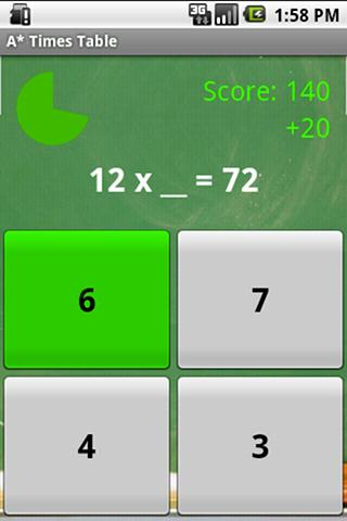 A* Times Table- screenshot