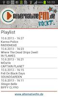 Screenshot of AlternativeFM