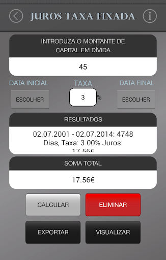 Cálculo de Juros Portugueses