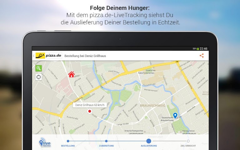 android pizza.de - Essen bestellen Screenshot 3
