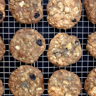 Maple, White Chocolate and Cherry Oatmeal Cookies.