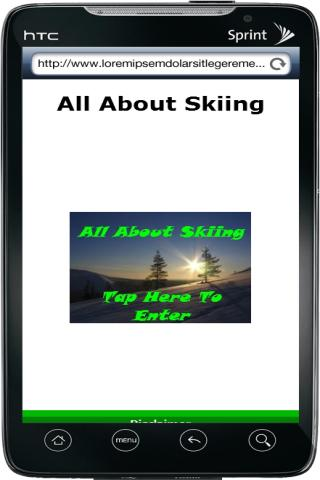 All About Skiing