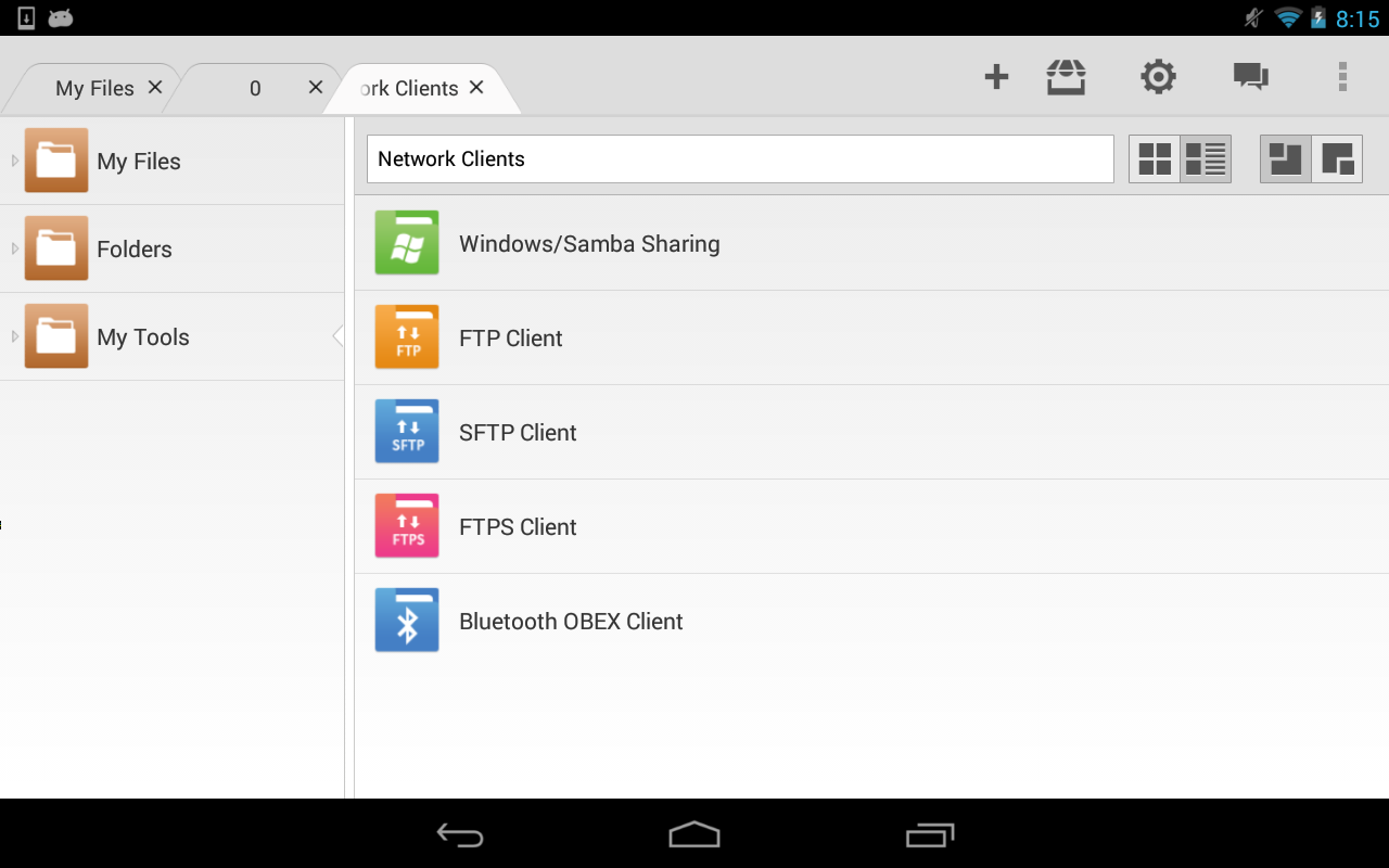 File Expert HD with Clouds - screenshot