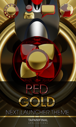 Next Launcher Theme RED GOLD