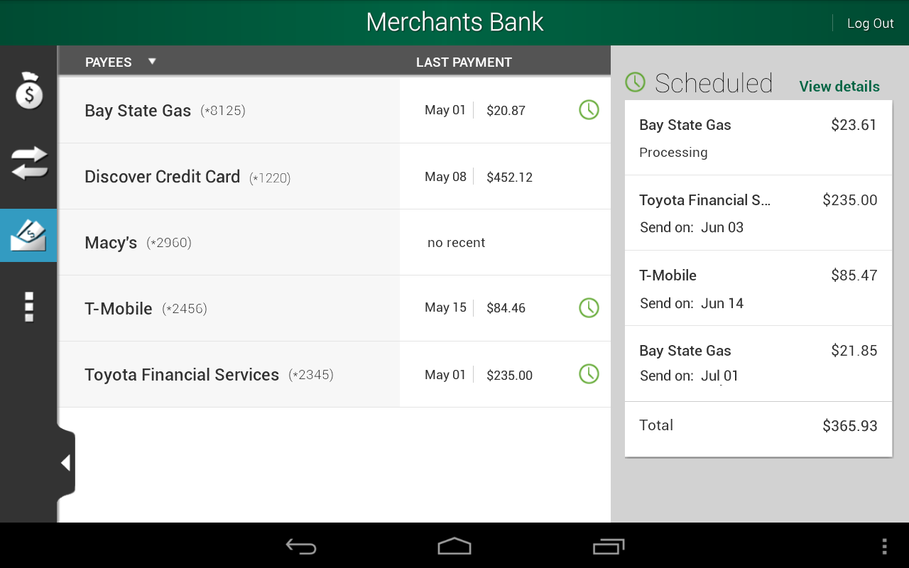 Merchants Bank - screenshot