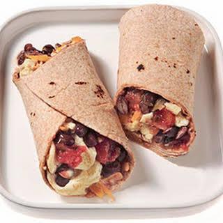 Black Bean Breakfast Burrito.