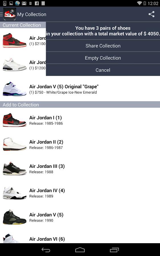 nike air jordan price guide