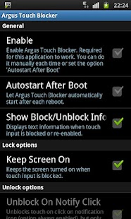 Screen Lock / disable touch - screenshot thumbnail