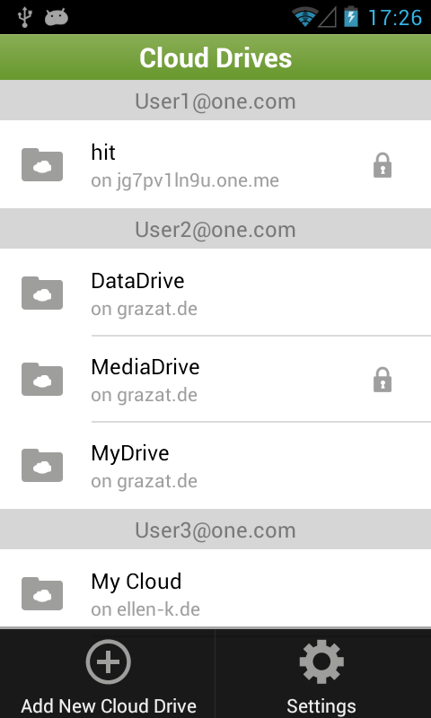 One.com Cloud Drive - screenshot