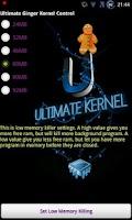 Screenshot of Ultimate Ginger Kernel Control